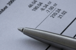 Billing document with pen