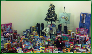 A sampling of toys from SID's toy drive.